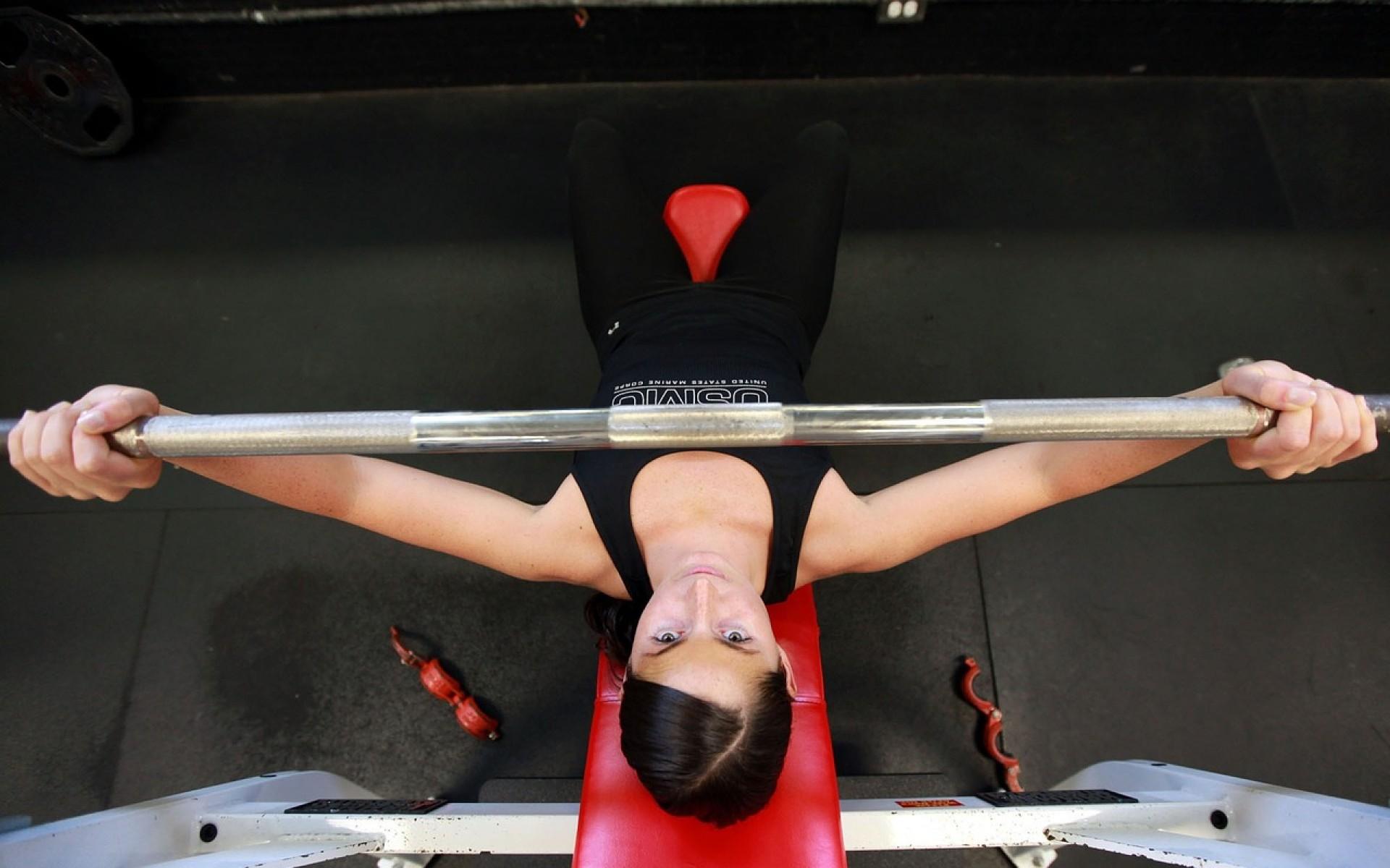Woman bench press